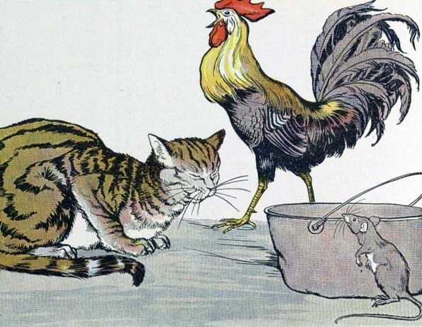 THE CAT, THE COCK, AND THE YOUNG MOUSE