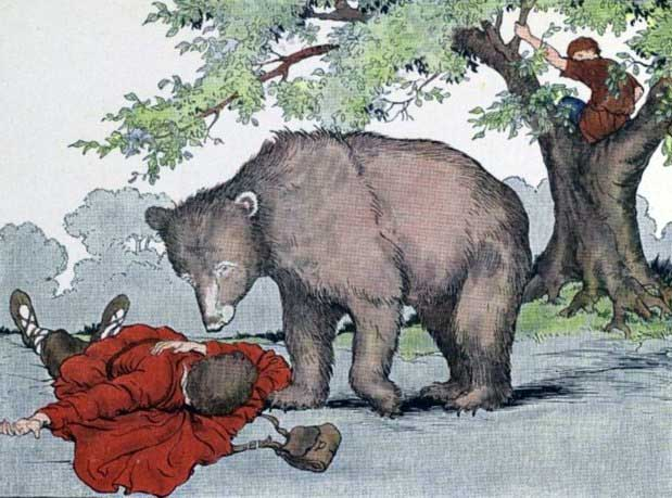 TWO TRAVELERS AND A BEAR