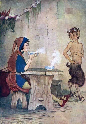 THE MAN AND THE SATYR